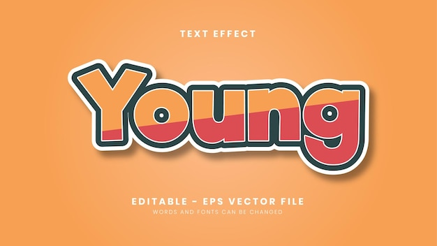 Simple young text effect Premium Vector
