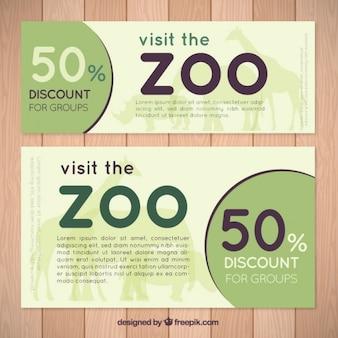 Простые баннеры зоопарк со скидкой