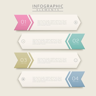 Simplicity infographic design with arrow label elements