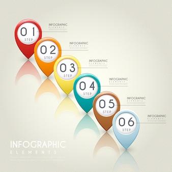 Простота инфографики с элементами красочных знаков