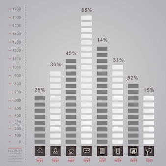 Simplicity infographic template design with bar chart