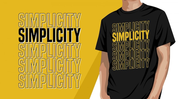Simplicity typography t shirt design for print