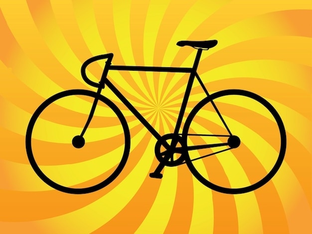 Simplified sport bicycle vector silhouette