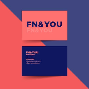 Simplistic business card template with colors