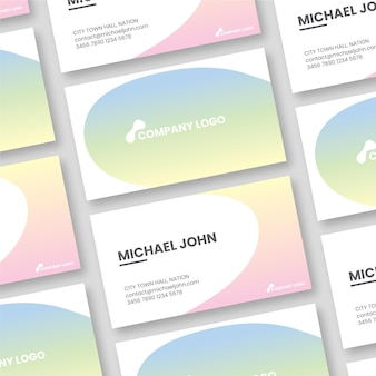 Simplistic pastel gradient business cards
