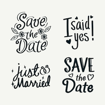 Simplistic save the date lettering