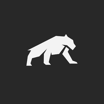 Simply big cat logo vector