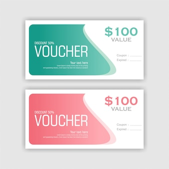 Simply flat gift voucher set