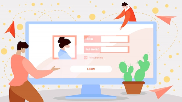 Sing in and register new web user interface vector