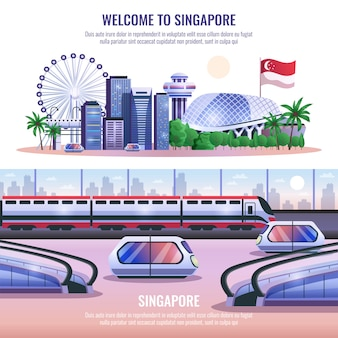 Singapore horizontal banners