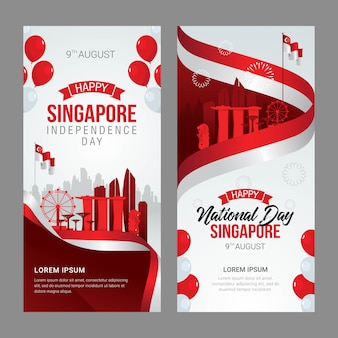 Singapore independence day greeting card