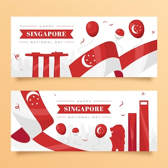 Singapore national day banners set