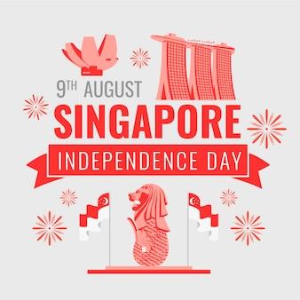 Singapore national day illustration