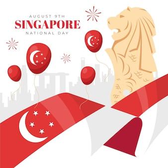 Иллюстрация национального дня сингапура