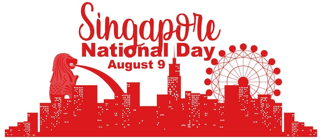 Singapore national day with marina bay sands singapore and fireworks