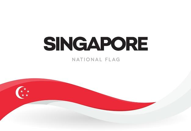Singaporean waving flag