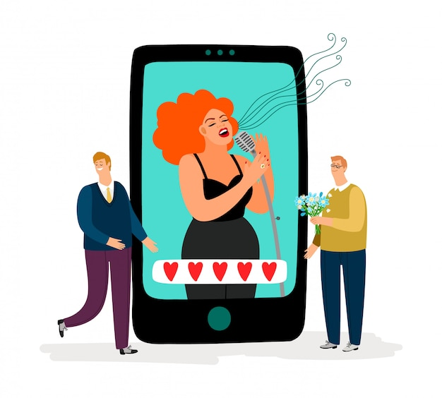Singer and fans smartphone app