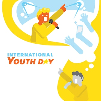 Singer star dream youth day background