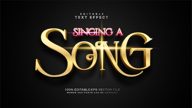Singing a song text effect