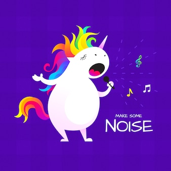 Singing unicorn