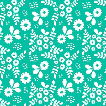 Single color seamless pattern of beautiful flower background