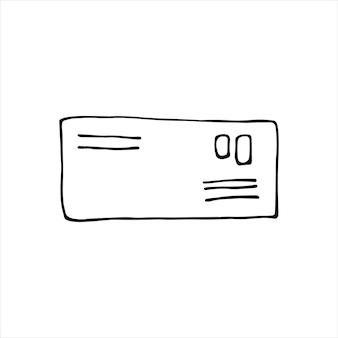 落書きビジネスセットの文字の単一要素。カード、ポスター、ステッカー、プロのデザインの手描きのベクトルイラスト。