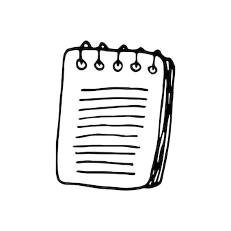 落書きビジネスセットのノートブックの単一要素。カード、ポスター、ステッカー、プロのデザインの手描きベクトルイラスト。