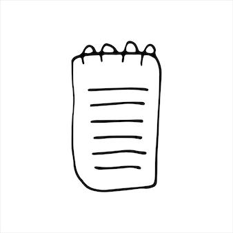 落書きビジネスセットのノートブックの単一要素。カード、ポスター、ステッカー、プロのデザインの手描きのベクトルイラスト。