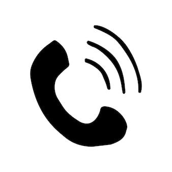 Один элемент телефона в наборе бизнес каракули. ручной обращается векторные иллюстрации для открыток, плакатов, наклеек и профессионального дизайна.