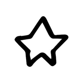 낙서 비즈니스 세트에서 스타의 단일 요소입니다. 카드, 포스터, 스티커 및 전문 디자인을 위한 손으로 그린 벡터 삽화.