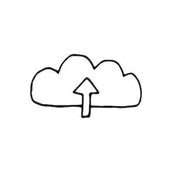 落書きビジネスセットのwi-fiと送信の単一要素。カード、ポスター、ステッカー、プロのデザインの手描きベクトルイラスト。
