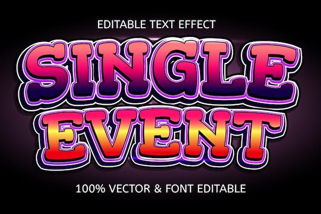 Single event style cartoon editable text effect