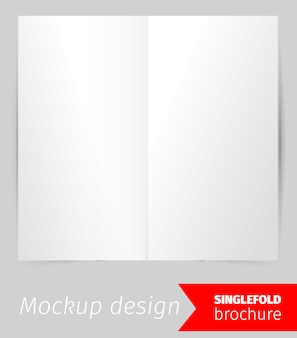 Single fold brochure mockup design