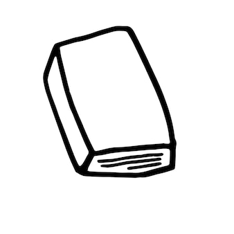 Single hand drawn book doodle vector illustration in cute scandinavian style