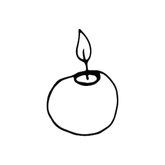 Single hand drawn element of new year xmas or autumn doodle vector illustration winter elements