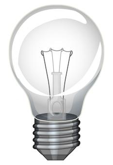 Single lightbulb on white