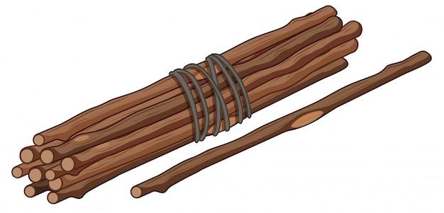 Bastone singolo e mazzetto di bastoncini