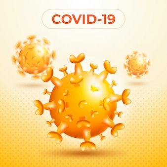 Single virus illustration