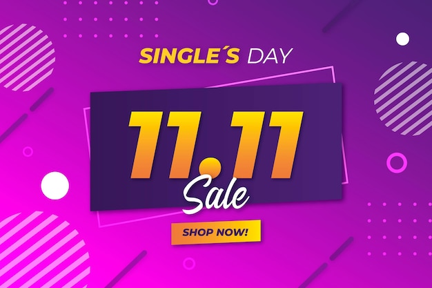 Singles day background in realistic style