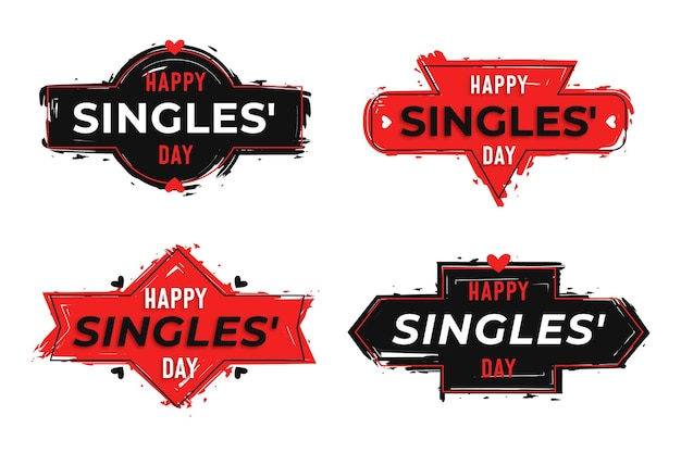 Singles day badges