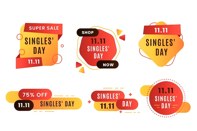Singles' day badges
