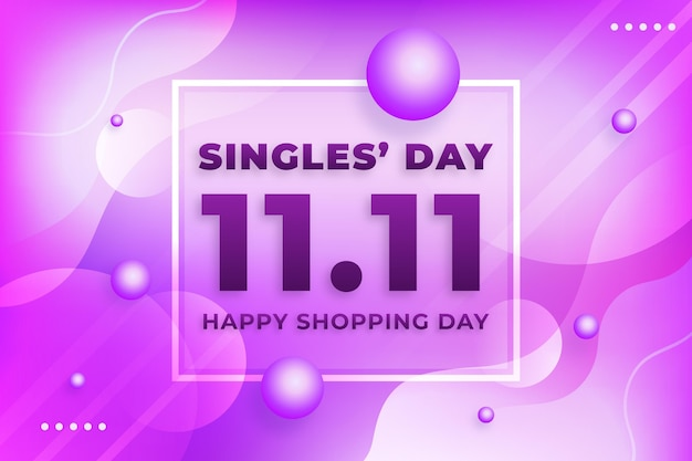 Singles day event background