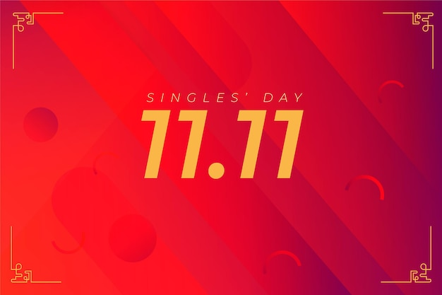 Singles day holiday wallpaper