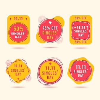 Etichette per il giorno dei single