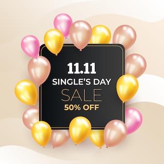 Giornata dei single con palloncini realistici