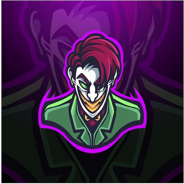 Sinister clown illustration