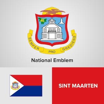 Sint maarten national emblem and flag