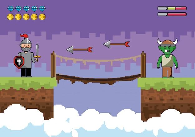 Господин мальчик с характером демона и стрелы с подвесным мостом