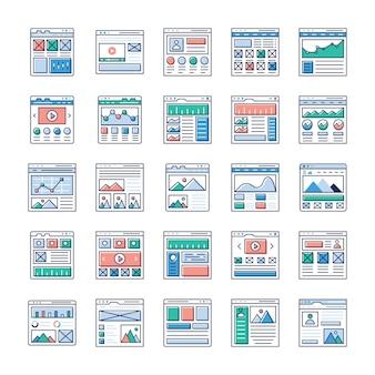 ウェブサイトsitemaps平らなベクトルパックはこちらです。ウェブデザイン、ウェブホスティング、ビデオ撮影、ウェブコミュニケーションなどに興味があるなら、この機会をつかみ、関連分野で使用してください。