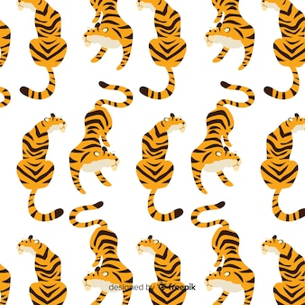 Sitting tiger pattern